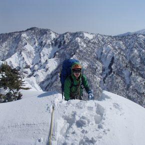 川内山塊横断 五剣谷岳東尾根左稜 2017/3/1-6