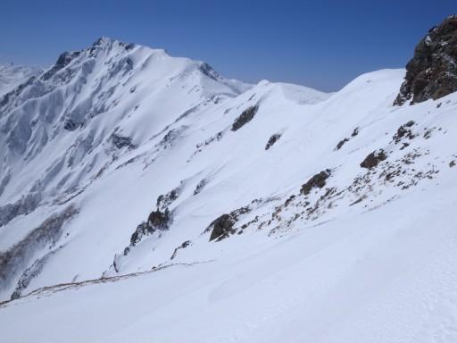 小蓮華岳山頂・ドロップ付近