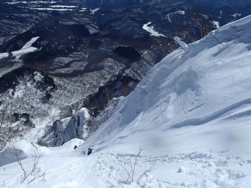 核心部を越えて最後の雪壁を詰める